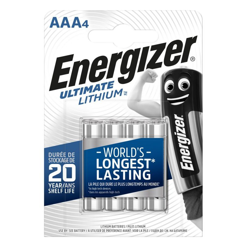 4x Energizer Lithium AAA Lithium Batterie