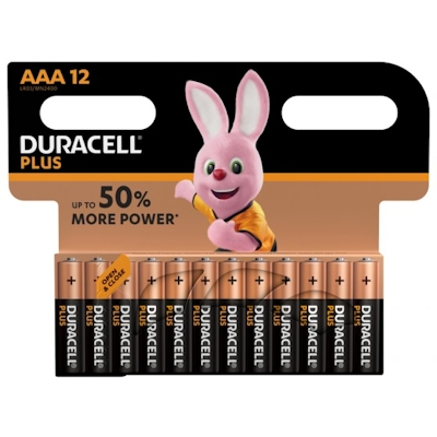 12x Duracell Plus AAA 1.5 Volt