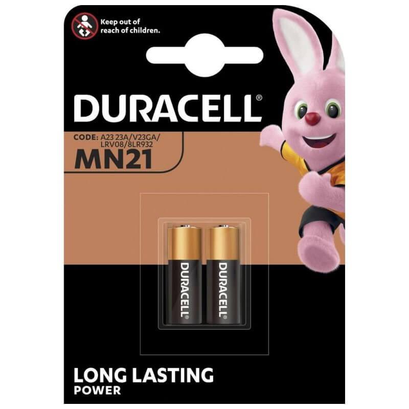 2x Duracell MN21 Alkaline Batterie