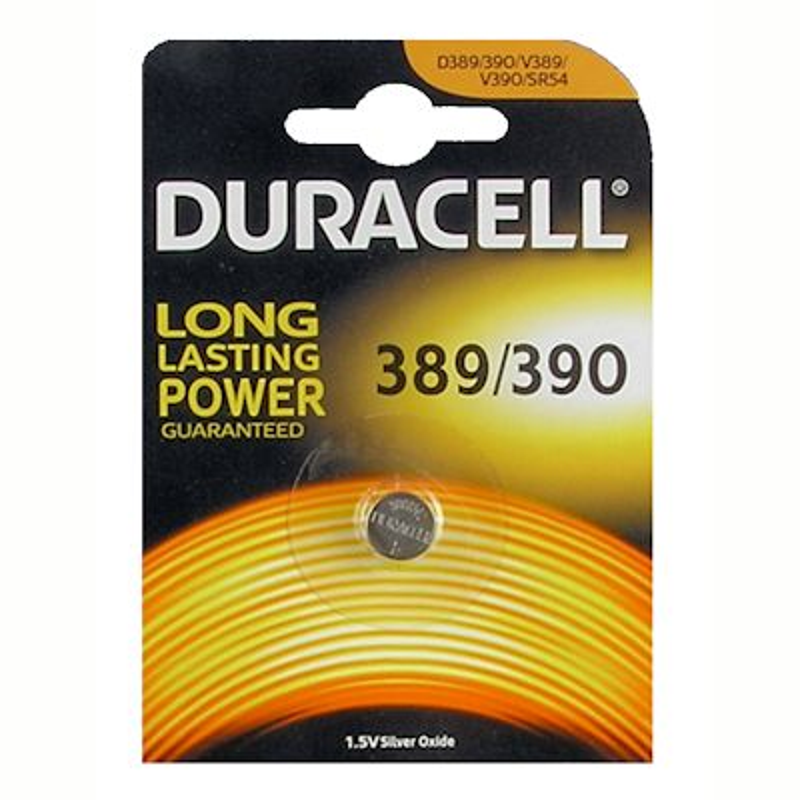 Duracell 389/390 Uhrenbatterie Silberoxid Knopfzelle