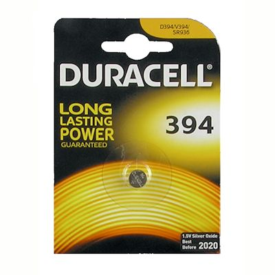 Duracell 394/380 Silberoxid Knopfzelle