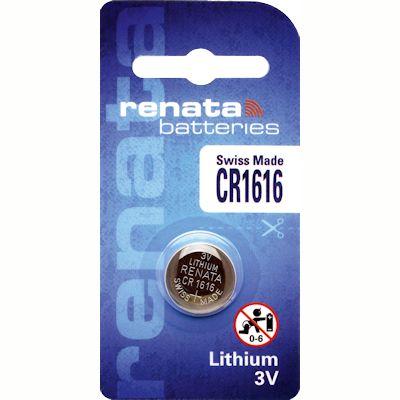 Renata CR1616 Lithium Knopfzelle
