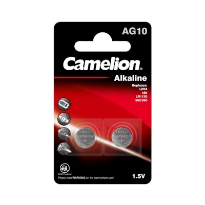 2x Camelion AG10 Alkaline Knopfzelle