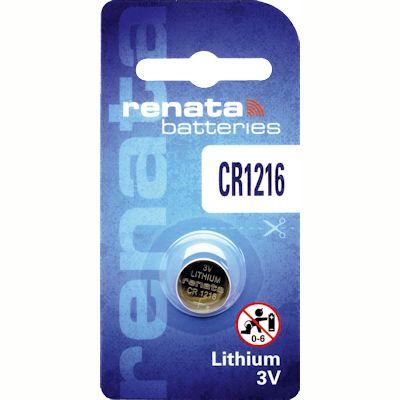 Renata CR1216 Lithium Knopfzelle