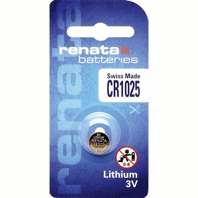 Renata CR1025 Lithium Knopfzelle