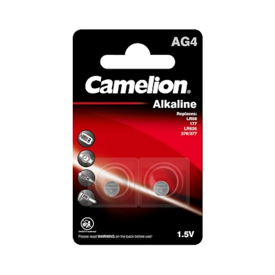 2x Camelion AG4 Alkaline Knopfzelle