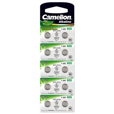 10x Camelion AG6 Alkaline Knopfzelle