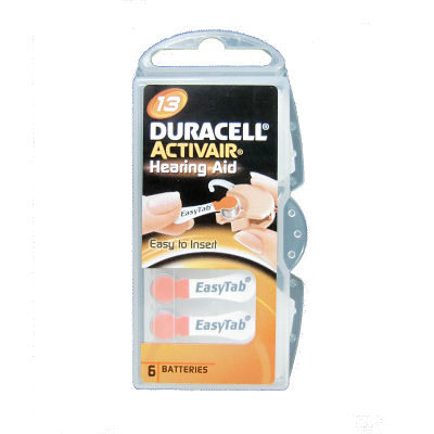 6x Duracell Activair 13 (orange) 1.45 Volt