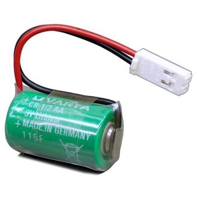 Pufferbatterie CR1/2AA kompatibel Siemens 575332TA Lithium Batterie