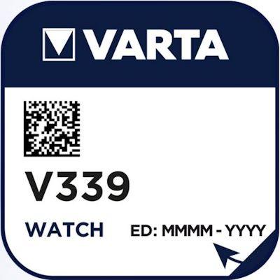 Varta 339 (V339) Uhrenbatterie Silberoxid Knopfzelle