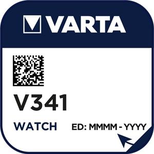 Varta 341 (V341) Uhrenbatterie Silberoxid Knopfzelle
