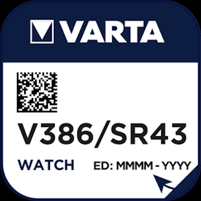 Varta 386 (V386) Uhrenbatterie Silberoxid Knopfzelle