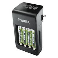 Varta LCD Plug Charger PLUS 57687 inkl. 4x AA Akkus 2100
