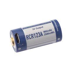Keeppower 3V RCR123A Li-Ion Akku 860mAh micro-USB 3 Volt