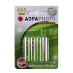 4x AgfaPhoto AAA Akku 900mAh 1.2 Volt