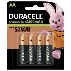 4x Duracell AA Akku 2500mAh 1.2 Volt