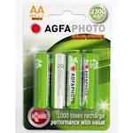 4x AgfaPhoto AA Akku 2300mAh 1.2 Volt