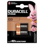 2x Duracell 123 (CR123A) 3 Volt