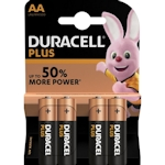 4x Duracell Plus AA