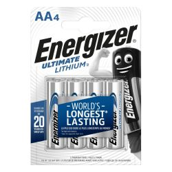 4x Energizer Ultimate Lithium AA 1.5 Volt