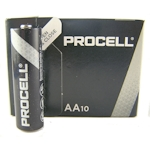 10x Duracell Industrial / Procell AA 1.5 Volt