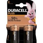 2x Duracell Plus C / Baby 1.5 Volt