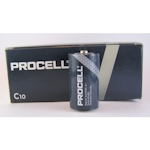 10x Procell C Baby (Duracell Industrial) 1.5 Volt