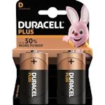 2x Duracell Plus D / Mono 1.5 Volt