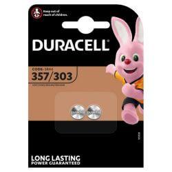 2x Duracell 357/303 Uhrenbatterien 1.5 Volt