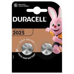 2x Duracell CR2025 3 Volt