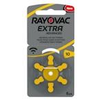 6x Rayovac 10 (gelb) Hörgerätebatterien 1.45 Volt