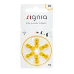 6x Signia 10 (gelb) Hörgerätebatterien 1.45 Volt
