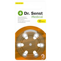 6x Dr. Senst 10 (gelb) Hörgerätebatterien 1.45 Volt