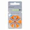 6x Power one 13 (orange) Hörgerätebatterien 1.45 Volt