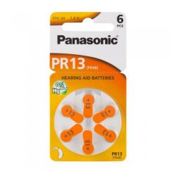 6x Panasonic PR13 (orange) Hörgerätebatterien 1.45 Volt