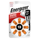 8x Energizer 13 (orange) 1.4 Volt