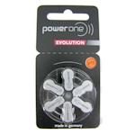 6x Power one EVOLUTION 13 (orange) Hörgerätebatterien 1.45 Volt