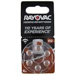 6x Rayovac Acoustic Special 312 (braun) Hörgerätebatterien 1.4 Volt