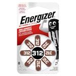 8x Energizer 312 (braun) Hörgerätebatterien 1.4 Volt