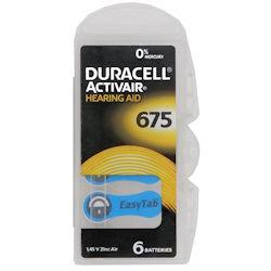 6x Duracell Activair 675 (blau) Hörgerätebatterien 1.4 Volt