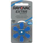6x Rayovac 675 (blau) Hörgerätebatterien 1.4 Volt