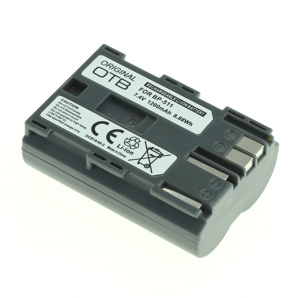 OTB Akku kompatibel zu Canon BP-511 Li-Ion - 1200mAh 7.4 Volt