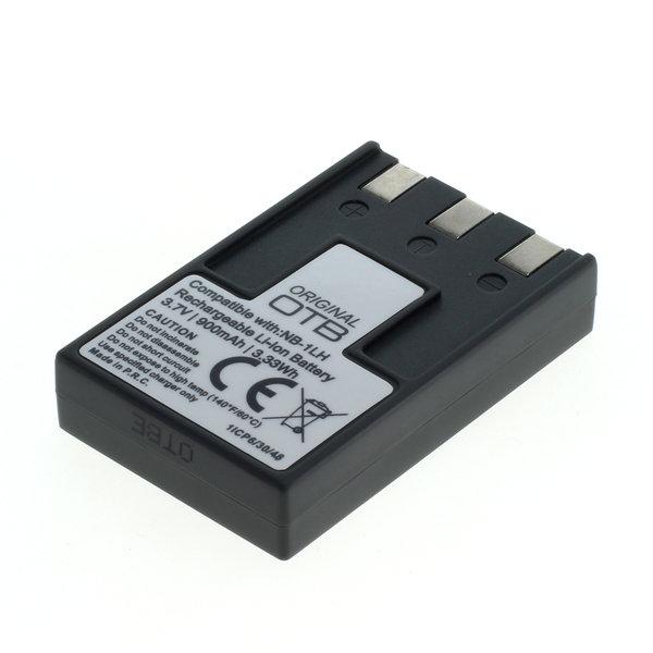 OTB Akku kompatibel zu Canon NB-1LH Li-Ion 3.7 Volt