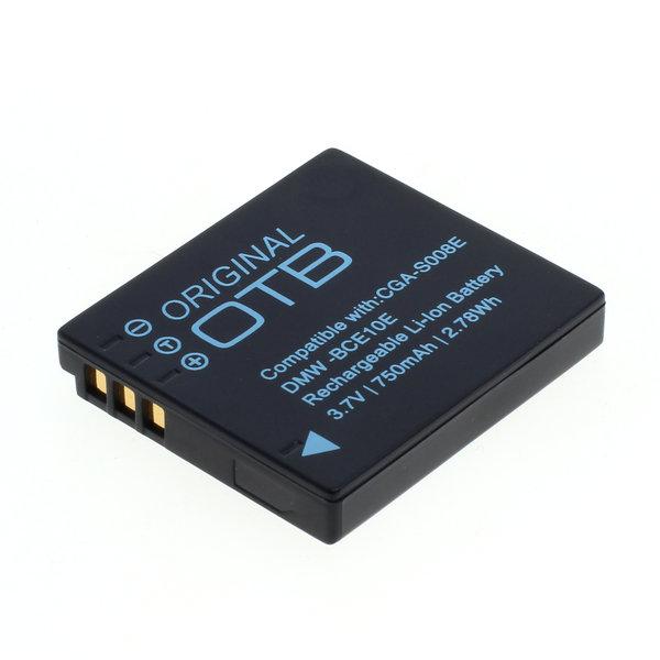 OTB Akku kompatibel zu Panasonic DMW-BCE10E/CGA-S008 / Ricoh DB-70 Li- 3.7 Volt