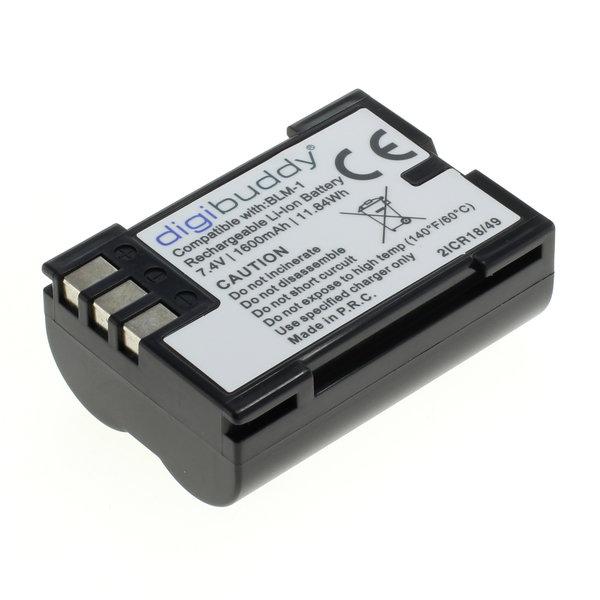 digibuddy Akku kompatibel zu Olympus BLM-1 Li-Ion 7.4 Volt