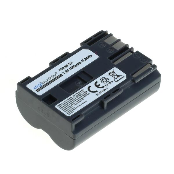 digibuddy Akku kompatibel zu Canon BP-511 Li-Ion 7.4 Volt