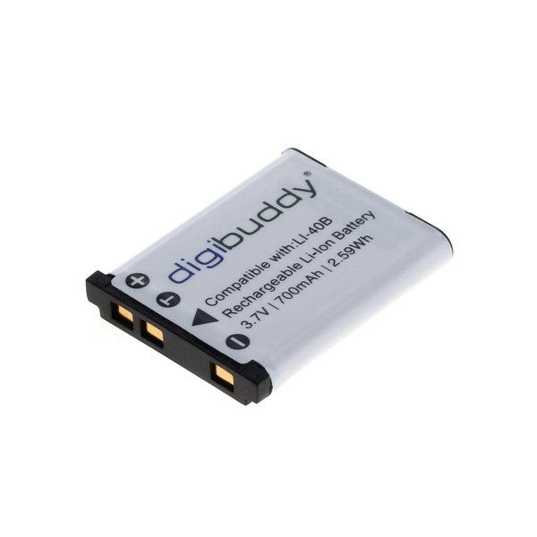 digibuddy Akku kompatibel zu Olympus LI-40B / Nikon EN-EL10 / Fuji NP- 3.7 Volt