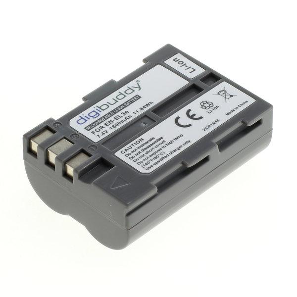 digibuddy Akku kompatibel zu Nikon EN-EL3e Li-Ion 7.4 Volt