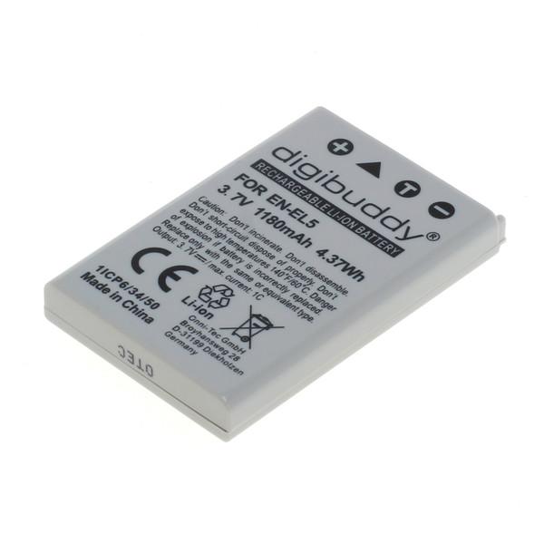 digibuddy Akku kompatibel zu Nikon EN-EL5 Li-Ion 3.7 Volt
