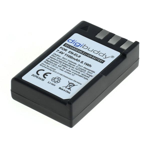 digibuddy Akku kompatibel zu Nikon EN-EL9 Li-Ion 7.2 Volt